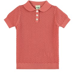 FUB Pointelle T-Shirt Raspberry