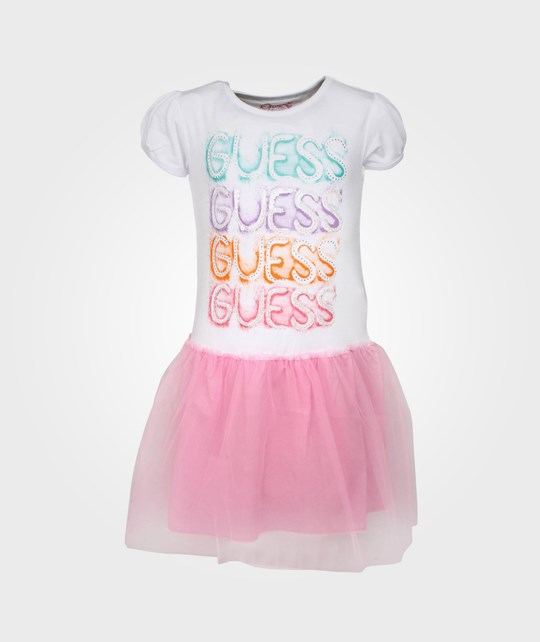 Guess SS Dress White White