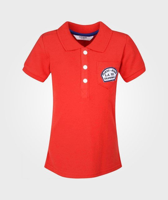 Guess SS Polo Red Punainen