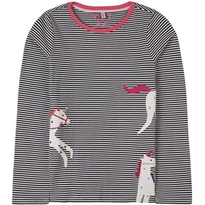 Image of Joules Ava Unicorn Stribet T-Shirt Navyblå 11-12 år (1805845)