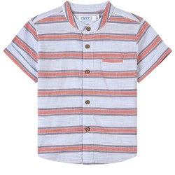 Mayoral Red and Blue Stripe Short Sleeve Shirt