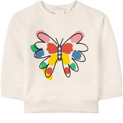 Stella McCartney Kids Butterfly Print Sweatshirt White