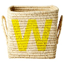 Rice Raffia Square Basket – W