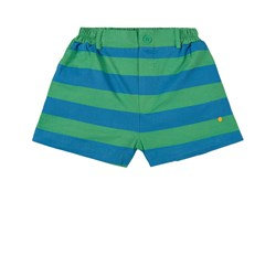 Bonmot Organic Short Button Wide Stripe Green