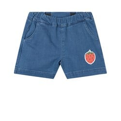 Mini Rodini Strawberry Jeansshorts Blå