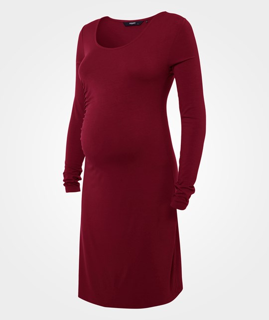 Noppies Dress ls Ivory Wine Red