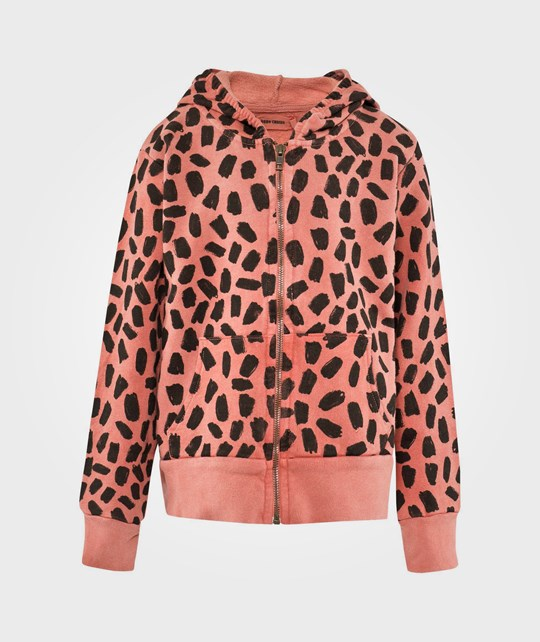 Bobo Choses Hooded Sw Leopard&Laureu Patch Red Red