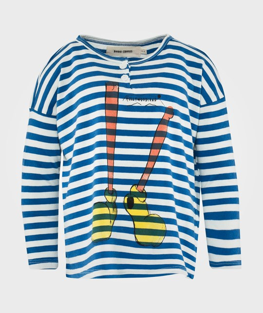 Bobo Choses LS T-Shirt Bts Stripes Shoes Red Red