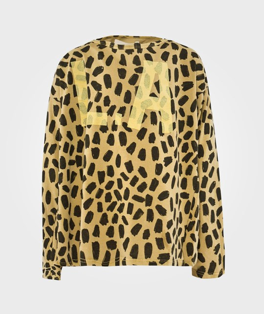 Bobo Choses LS T-Shirt Leopard L.A. Yellow Yellow