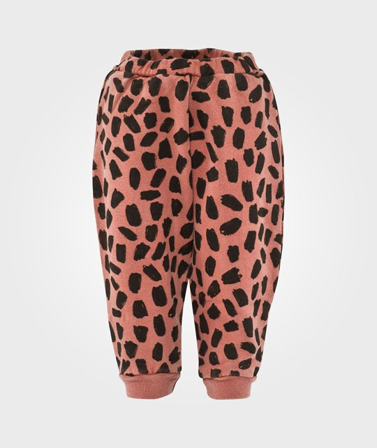 Bobo Choses Fleece Pants Leopard Red Red