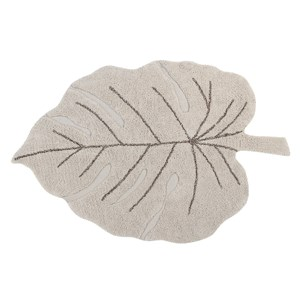 Image of Lorena Canals Monstera Tæppe Beige one size (1872791)