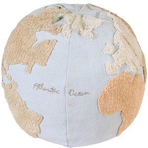 Image of Lorena Canals World Map Puf Blå one size (1872790)