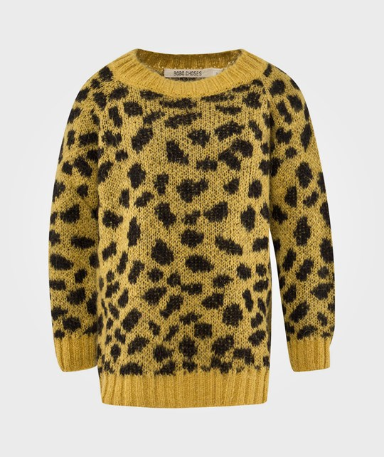 Bobo Choses Jumper Mohair AO Leopard Jacq. Yellow Yellow