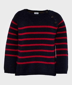 Petit Bateau Knitted Sweater Navy/Red