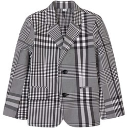 Burberry Checked Suit Jacket Black