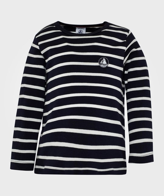 Petit Bateau LS Sweater Stripes Blue Blue