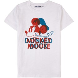 Fabric Flavours Mickey Donald 3-D Print T-Shirt White
