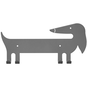 Image of Marnelly Dachsund Wall Hook Gray 12 mdr. - 10 år (1871487)