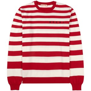 Image of Marni Branded Striped Knit Trøje Rød 4 år (1744279)