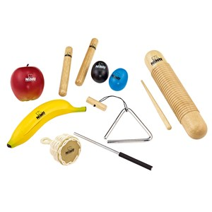 Image of NINO® Percussion Hand Percussion Set In Bag 9 Pieces 3+ years (1673836)