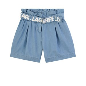 Image of Karl Lagerfeld Kids Paperbag Waist Shorts Denim blåt 12 år (1808391)