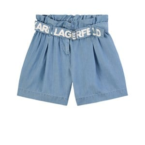 Image of Karl Lagerfeld Kids Paperbag Waist Shorts Denim blåt 8 år (1808389)