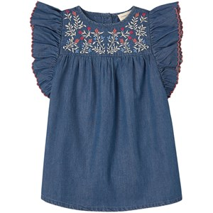 Image of Louis Louise Dress Bettie Chambray Blue 10 år (1844126)
