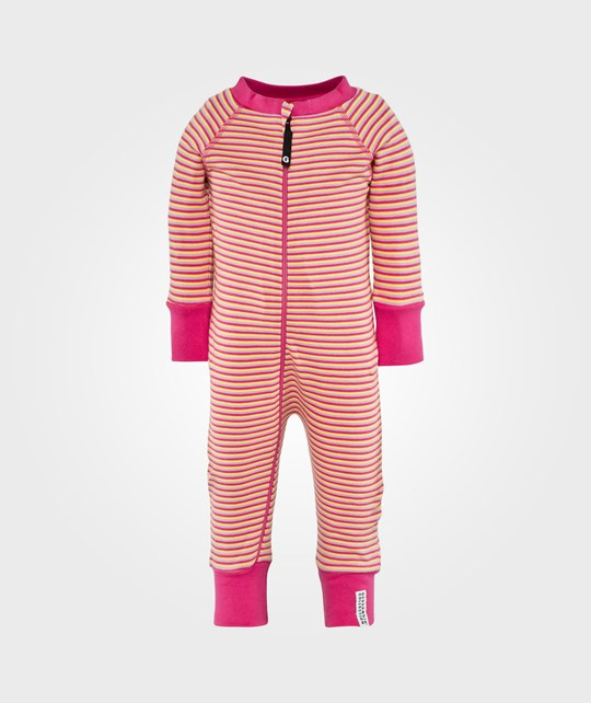Geggamoja Pyjamas 3 striped cerise Pink