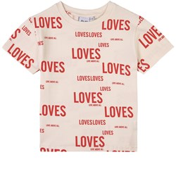 Beau Loves Loves T-Shirt Natural