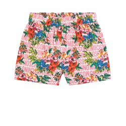 Moschino Kid-Teen Floral Branded Shorts Lyserøde