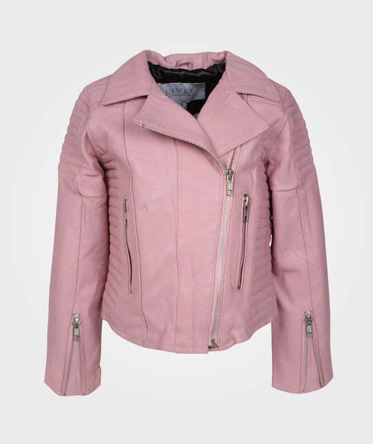 LIVLY(anv ej) Leather Jacket Baby Pink Pink