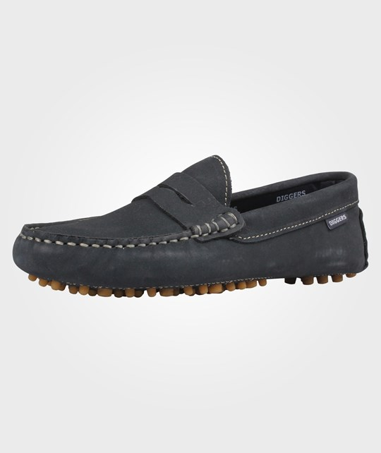 diggers Moccasin Penny Dark Blue Blue