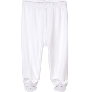 Image of Livly Bunny Footed Leggings Hvid 3-6 months (1874181)