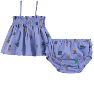 Image of Oeuf Baby Smock Outfit Iris 12-18 mdr (1861428)