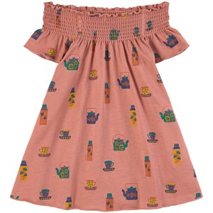 Oeuf Peasant Kjole Punch Pink 2-3 år