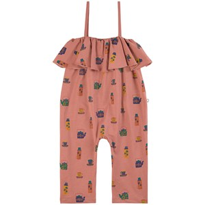 Oeuf Ruffle Jumpsuit Punch Pink 2-3 år