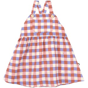 Image of Oeuf Gingham Pinafore Flamingo Pink 12-18 mdr (1861513)