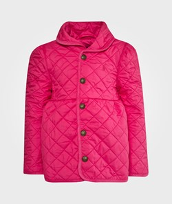Ralph Lauren Quilted Shawl Collar Jacket Currant