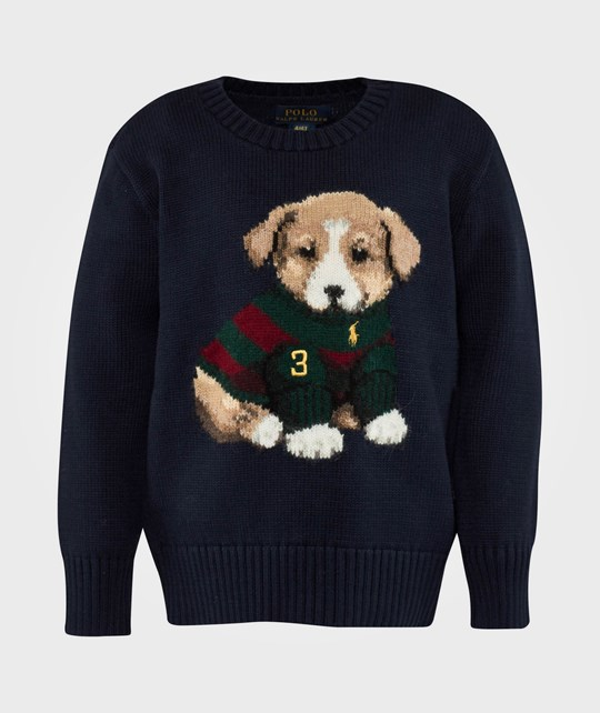 Ralph Lauren LS CN Dog Sweater Hunter Navy Blue