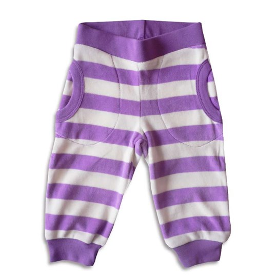 Katvig Sweat pants Violet and White Purple