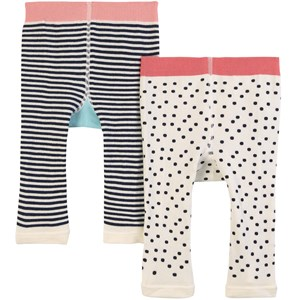 Image of Joules 2-pak Lively Puppy & B Leggings Cremefarvede 0-6 mdr (1806407)
