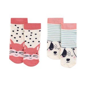 Image of Joules 2-pak Squirrel & Dog Neat Feet Strømper Cremefarvede 6-12 months (1806411)