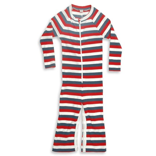 Moonkids Suit Blue Red and White Multi