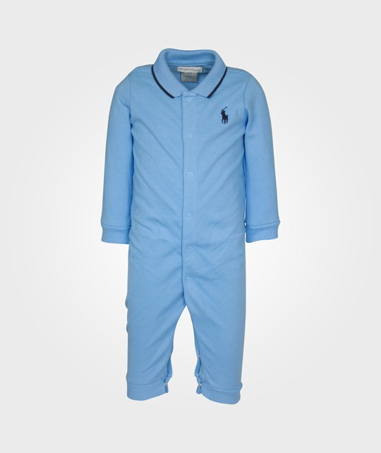 Ralph Lauren Ls Polo Coverall Suffield Blue Blue