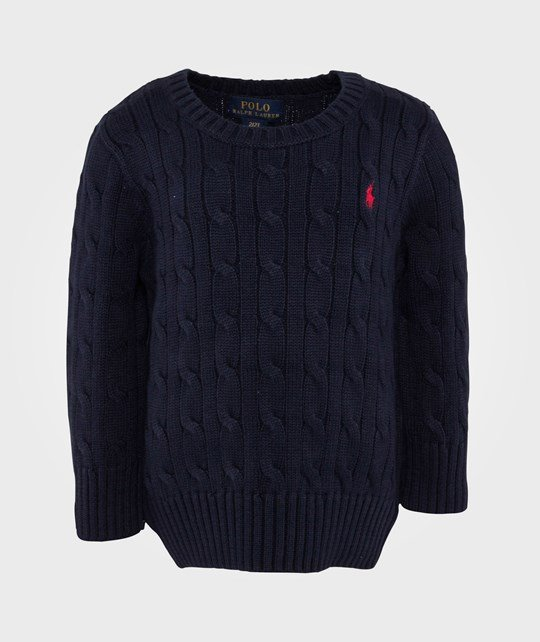 Ralph Lauren Ls Classic Cable Cn Hunter Navy Blue
