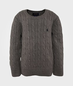 Ralph Lauren Ls Classic Cable Cn Fawn Heather