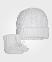 Ralph Lauren Hat & Bootie Set White White