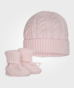 Ralph Lauren Hat & Bootie Set Morning Pink