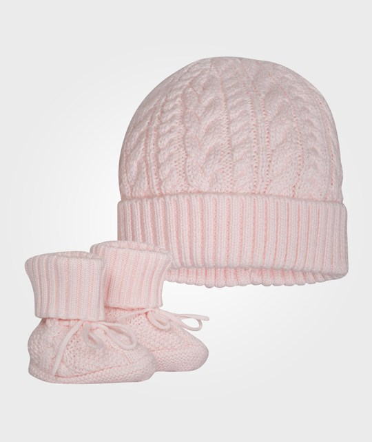 Ralph Lauren Hat & Bootie Set Morning Pink Pink