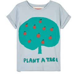 nadadelazos Plant A Tree T-Shirt Blue